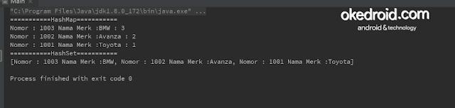 Output Hasil tidak ada menghilangkan mencegah duplikasi data nilai value dari method hashcode dan equals di java