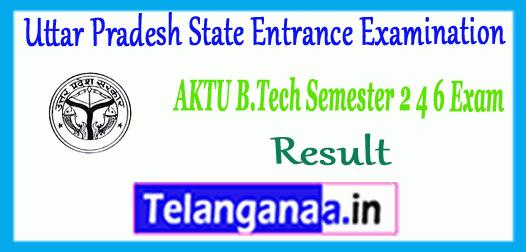 UPTU AKTU A.P.J. Abdul Kalam Technical University B.Tech Even Semester 2nd 4th 6th 8th Exam Result