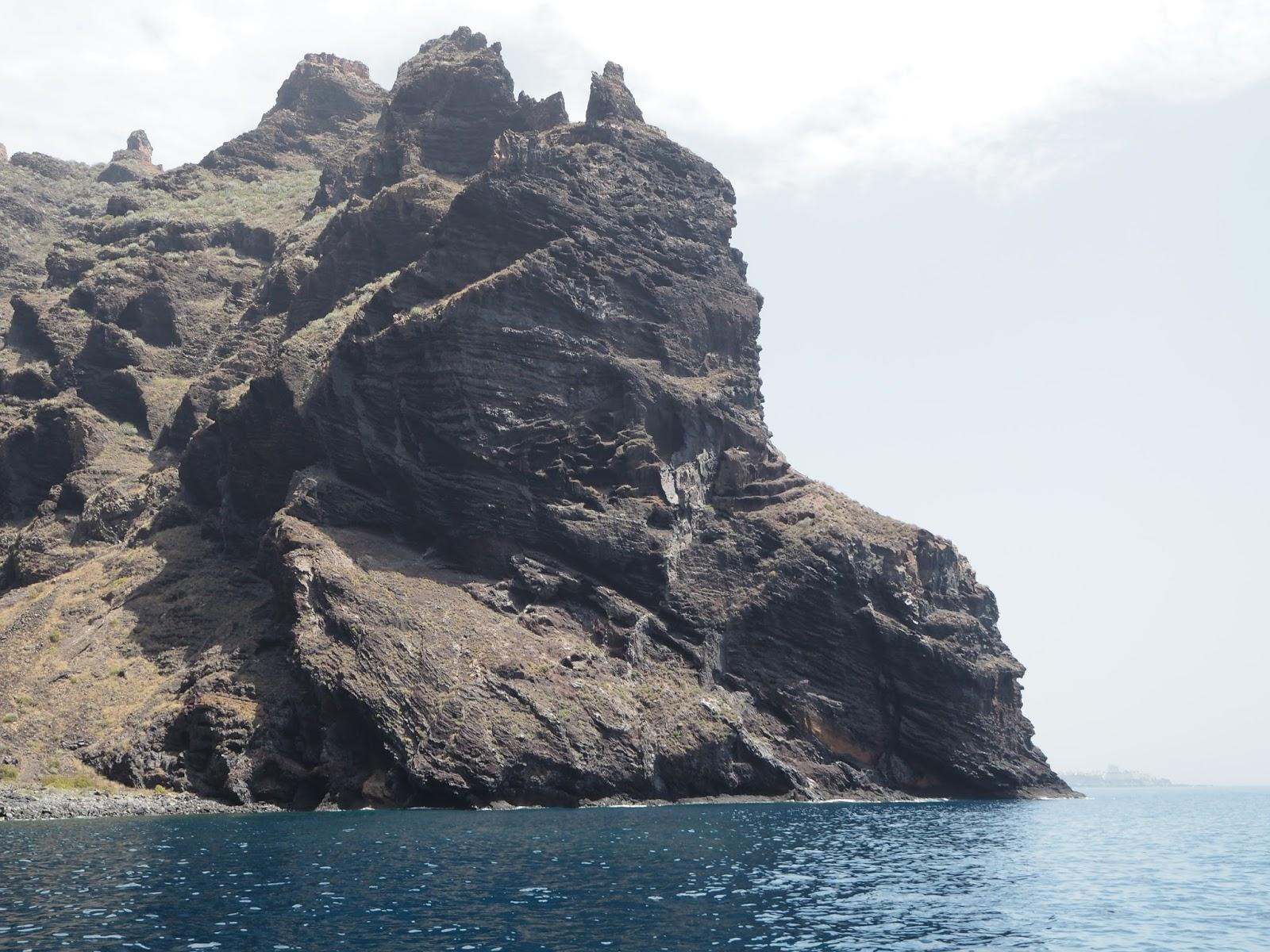 Tenerife rock face los gigantos