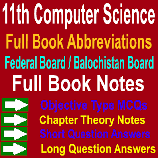 Full Book Abbreviations Helpful Computer Science Notes