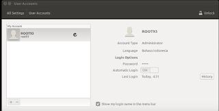 jendela system settings ubuntu