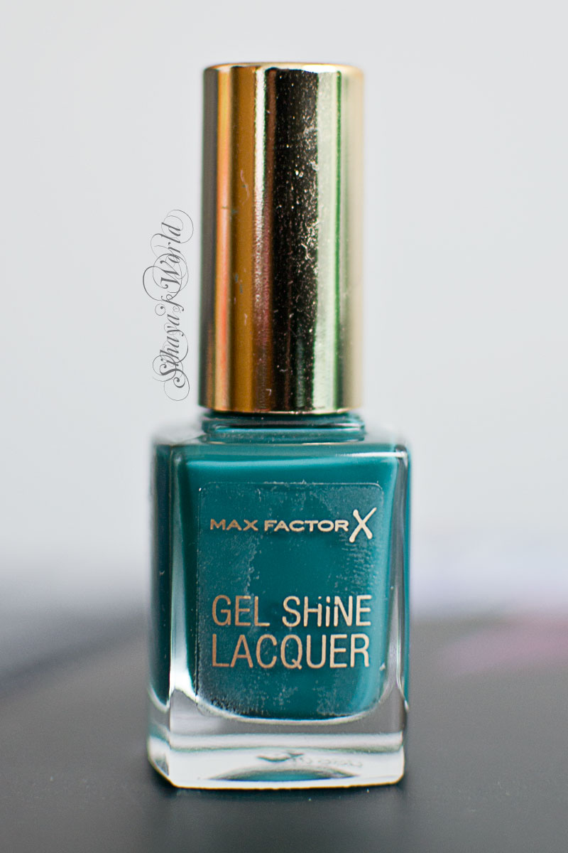 max factor gel shine lacquer 45 gleaming teal swatch