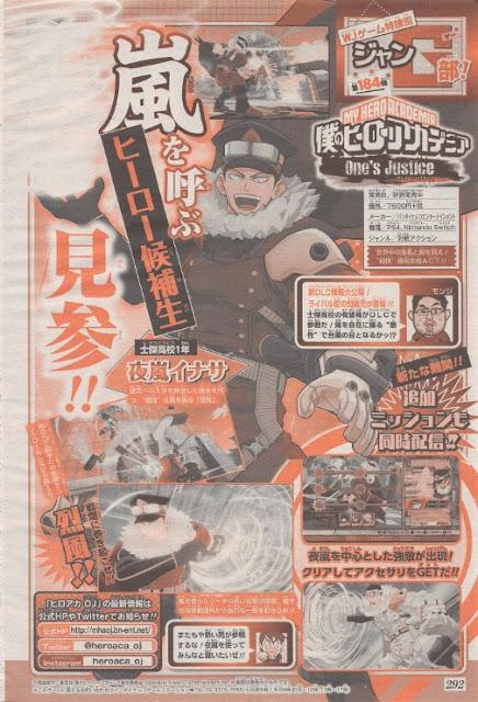 "Inasa Yoarashi se une a ""My Hero One's Justice""."