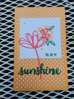 Mini Legal Pad Cover using Stampin' Up! Peekaboo Peach, Sunshine Wishes, and Sunshine Sayings by Spread Joy Stamping