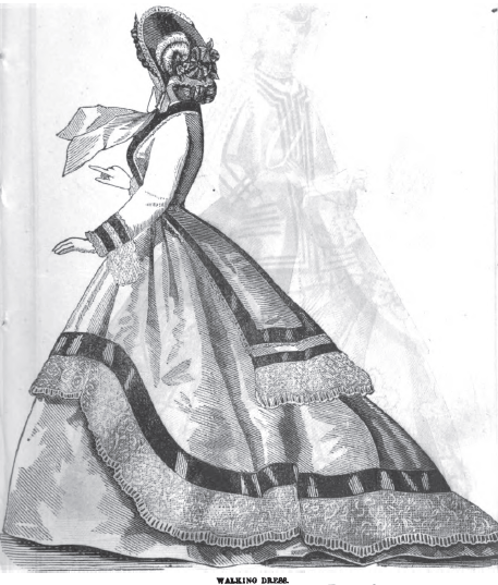 Walking Dress, January 1865, Peterson's Magazine