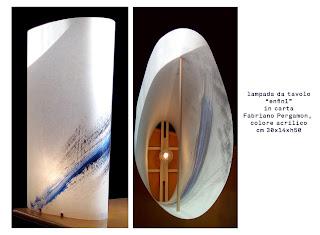 lampe en paper et bois