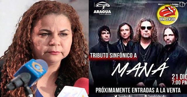 Iris Varela la agarra durísimo contra el grupo Maná por un tributo que le harán