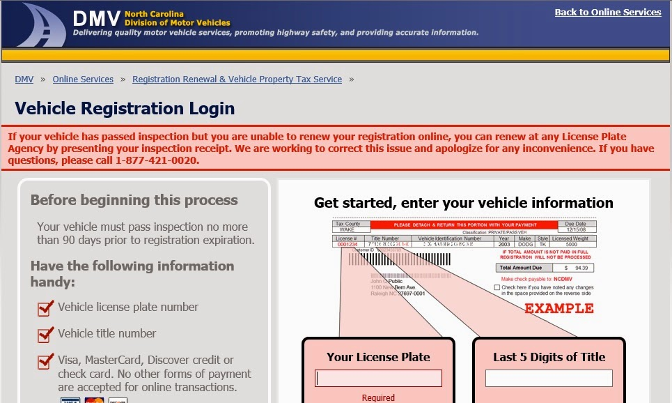 North Carolina Vehicle Registration Renewal And Property Jpg 965x578 Form