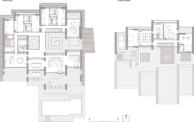 Floor plans of the modern home