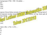 Soal Latihan USBN Matematika SD/MI Tahun 2017/2018