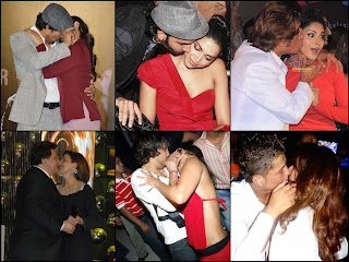 Bollywood Celebrity Kissing in Public Photos