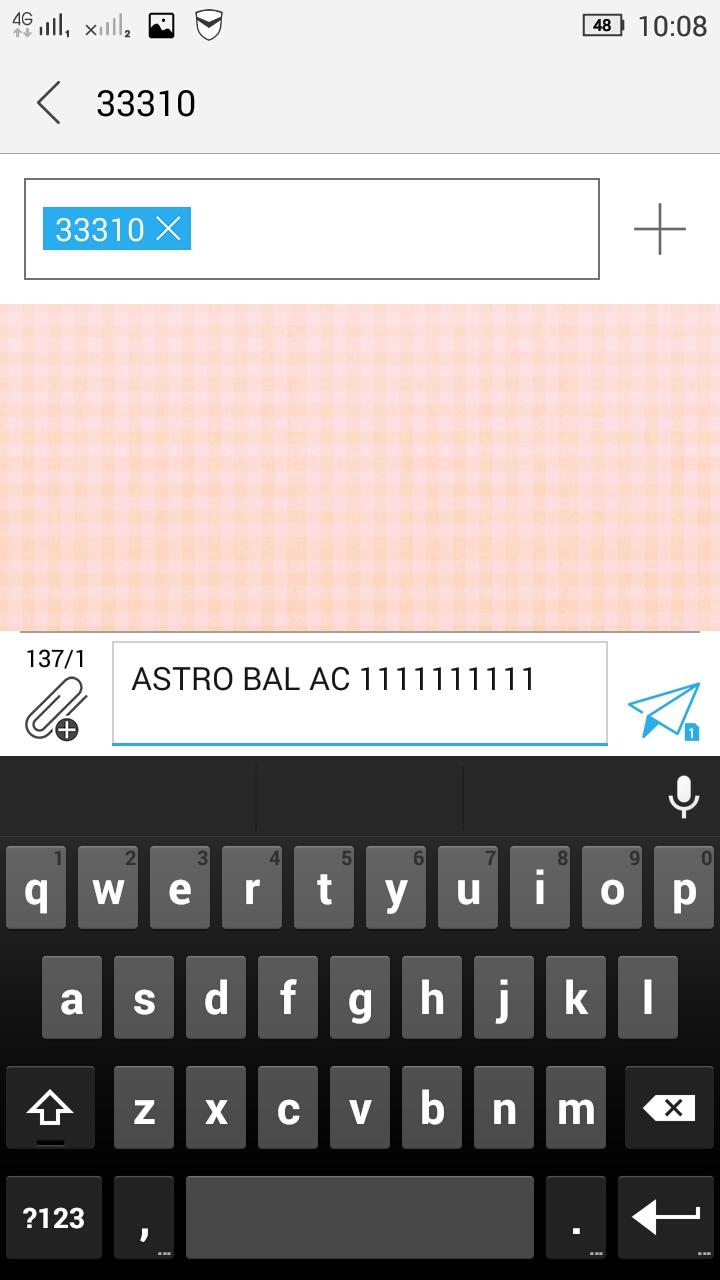 Astro Sms