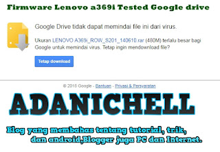 Firmware Lenovo a369i Tested Google drive