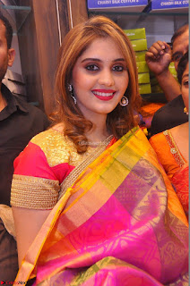 Surabhi looks stunning in Saree at Nakshatra Fashion Store Launch at Suchitra X Road 22.JPG