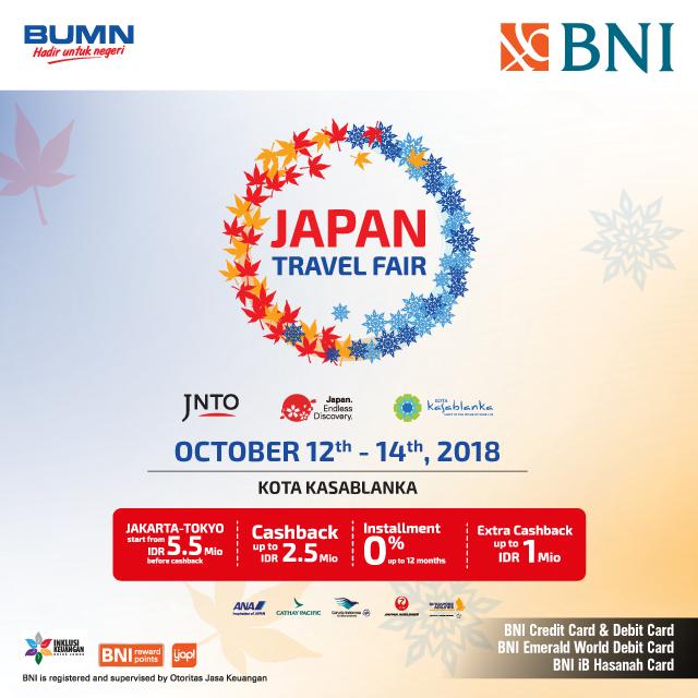 BNI - Promo Event Japan Travel Fair 2018 (12 - 14 Okt 2018)