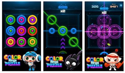 لعبة الألغاز الجميلة Color Rings Puzzle مهكرة للأندرويد [Mod]