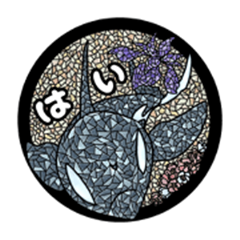 Orca+Stained glass+Language of flowers