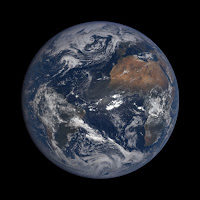 Earth as seen by the EPIC imager on the DSCOVR satellite on March 29, 2017. (Credit: NASA) Click to Enlarge.