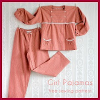 Pijama de niña patrones