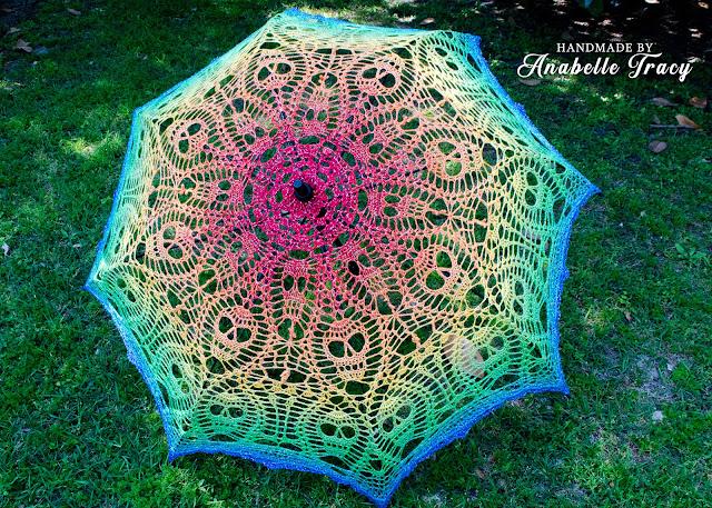 Crochet Lace Rainbow Parasol