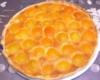 dessert pâtisserie tarte aux abricots