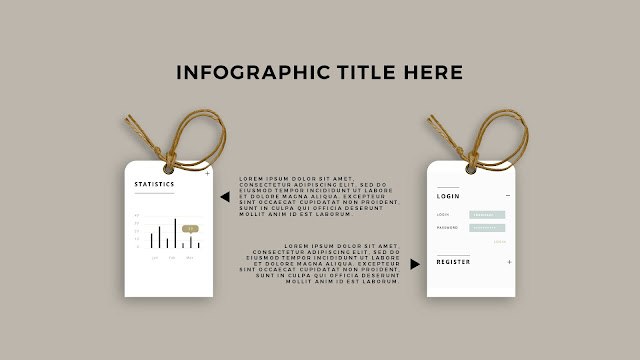 Free PowerPoint Template with Realistic Label Tag Mockups and Infographics Slide 7