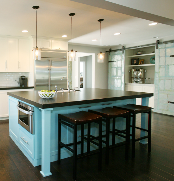 Claire Bock: Color Story Monday: The Colorful Kitchen Island