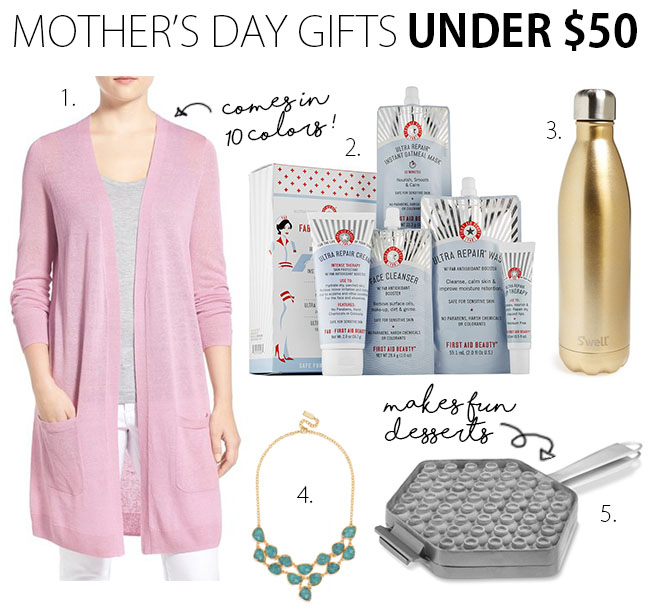 Mother's Day Gift Guide 2016 Under $50 | www.thebellainsider.com