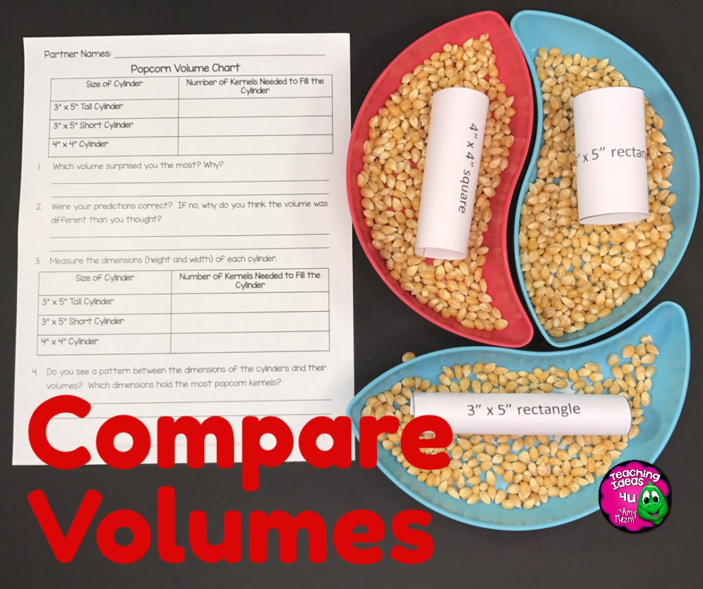 Using Popcorn To Teach About Volume Cinnamon S Classroom