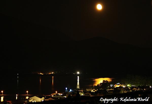 Moonlit Argostoli Kefalonia