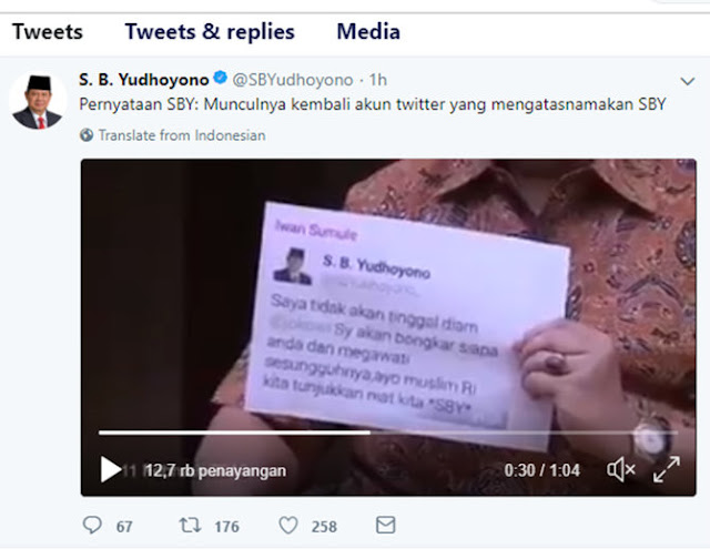 Twitter SBY