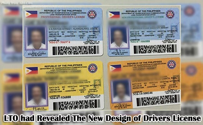 LTO had Revealed The New Design of Drivers License
