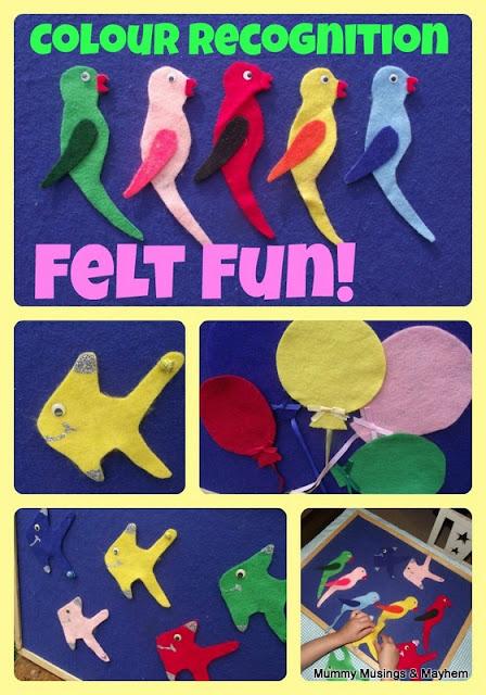 Toddler Colour recognition felt games