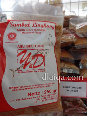 sambal lingkung (abon ikan)
