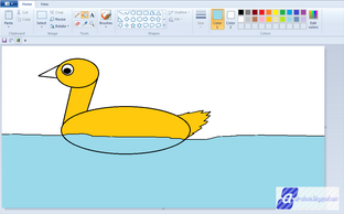 Cara Menggambar Bebek dengan Microsoft Paint