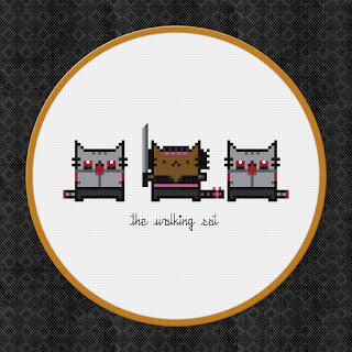 The Walking Cat - The Walking Dead - Cross Stitch PDF Pattern Download