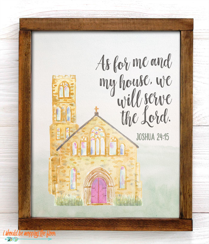 Joshua 24:15 Printable