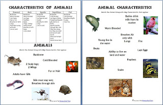 http://homeschoolden.com/2014/03/12/animals-and-their-characteristics-free-worksheet/