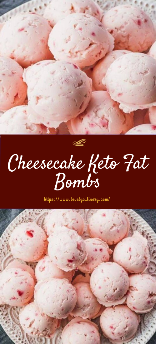 Cheesecake Keto Fat Bombs #dessert #keto