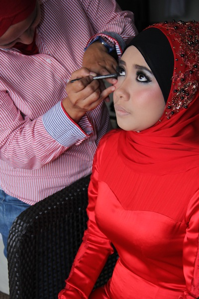 premium beautiful sha khalid with MUA Kak Ina