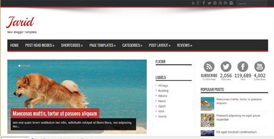 Top 5 En İyi Kalite Premium Blogger Şablonları