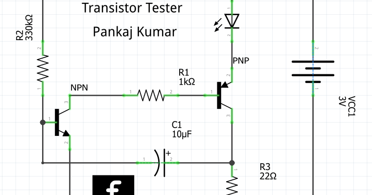 transistor tester circuit electronic project