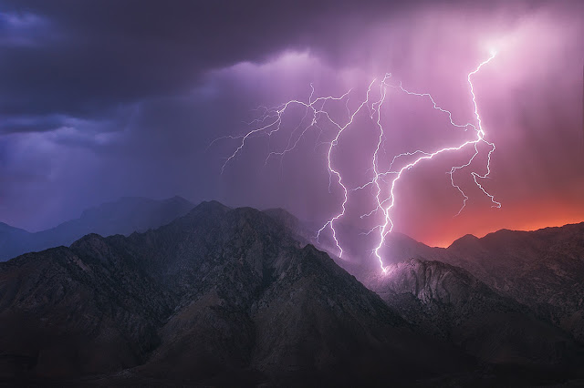 Lightning over Sierra Nevada
