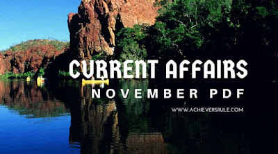 Current Affairs Monthly PDF - November