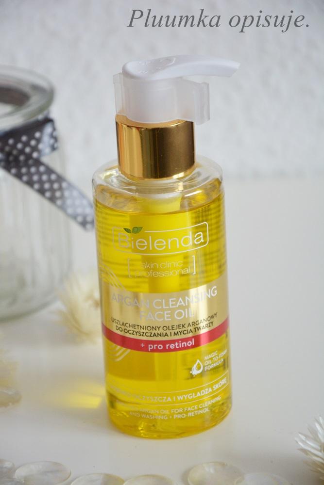 Bielenda Face Clinic Professional, uszlachetniony olejek arganowy do oczyszczania i mycia twarzy.