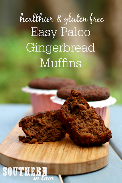 Easy One Bowl Paleo Gingerbread Muffins Recipe – gluten free, grain free, paleo, dairy free, sugar free, low fat, healthy dessert recipes, clean eating recipe, healthy Christmas recipes