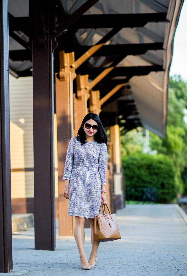 Multicolored Tweed (+ J. Crew Long-sleeve Multicolored Tweed Dress with Fringe Review)