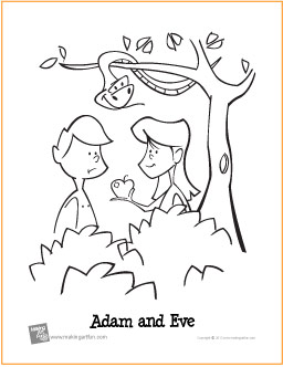 The art of andy fling adam and eve free coloring page for Coloring pages adam and eve