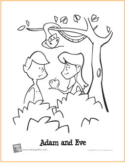 Adam And Eve Bible Coloring Pages For Kids - Colorings.net