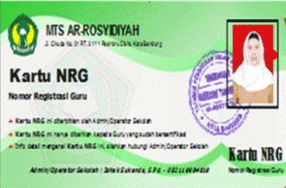 Aplikasi Cetak Kartu NRG Terupdate 2017